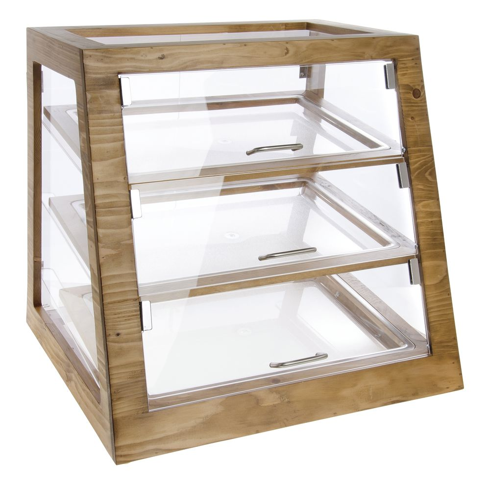 Cal mil madera collection reclaimed wood and acrylic bakery cal mil madera collection reclaimed wood and acrylic bakery display case 21l x 21 12w x 21h reviewsmspy