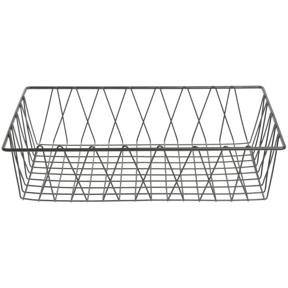 HUBERT® Rectangular Nickel Powder-Coated Steel Wire Basket - 18\