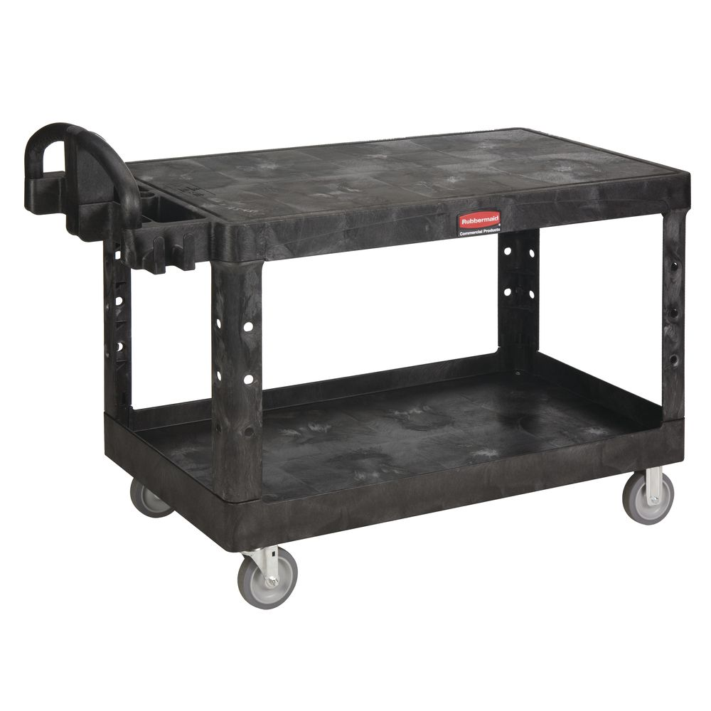 CART FLAT SHELF BLACK 54X2525X36