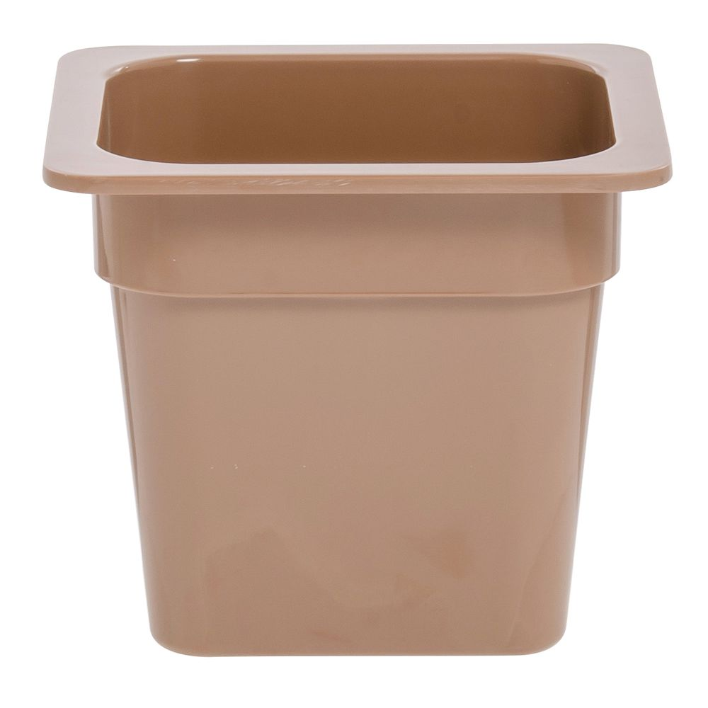 "Expressly Hubert® Sixth Size Melamine Pan 6""D Terra Cotta"