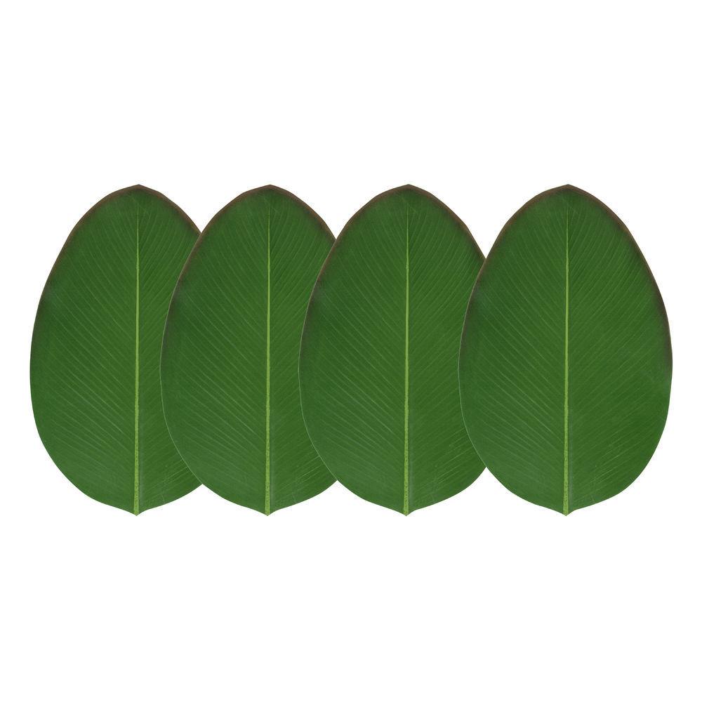 Design Ideas Green EVA Foam Heliconia Leaf Coaster Set - 4 1/10L x 6 ...
