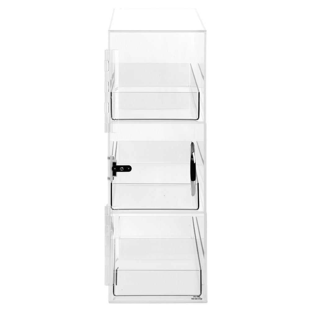CASE, DISPLAY, 3-TIER FROST PLASTIC