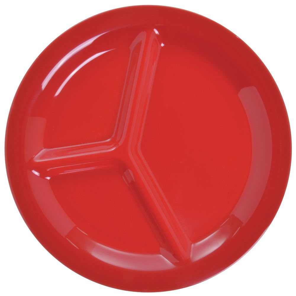 PLATE 3 COMP SIERRUS 10.5\ DIA RED  sc 1 st  Hubert.com & Carlisle Sierrus™ 3-Compartment Red Melamine Plate - 10 1/2 Dia