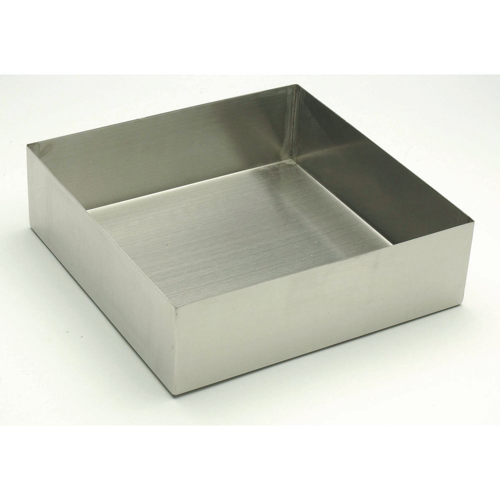 "Square Stainless Steel Baking Pan Displayware 10""L x  3""H"