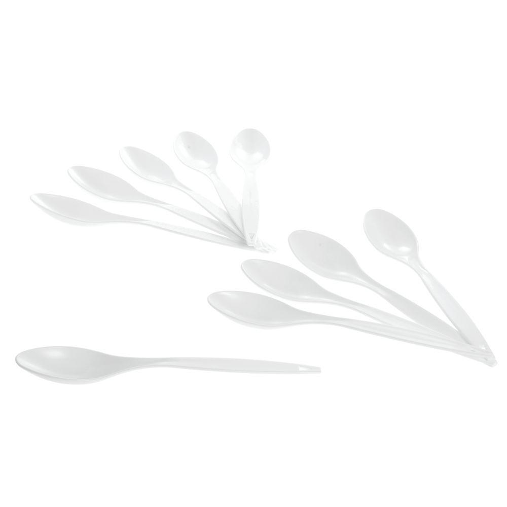 "Plastic Spoon 10""L White"