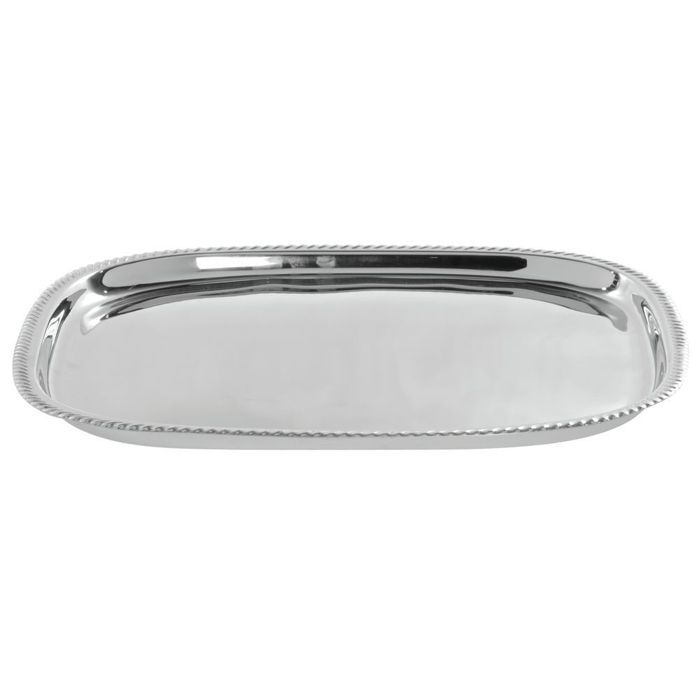 TRAY, SERVING, GADROON, SQUARE, S/S, 17 X 17