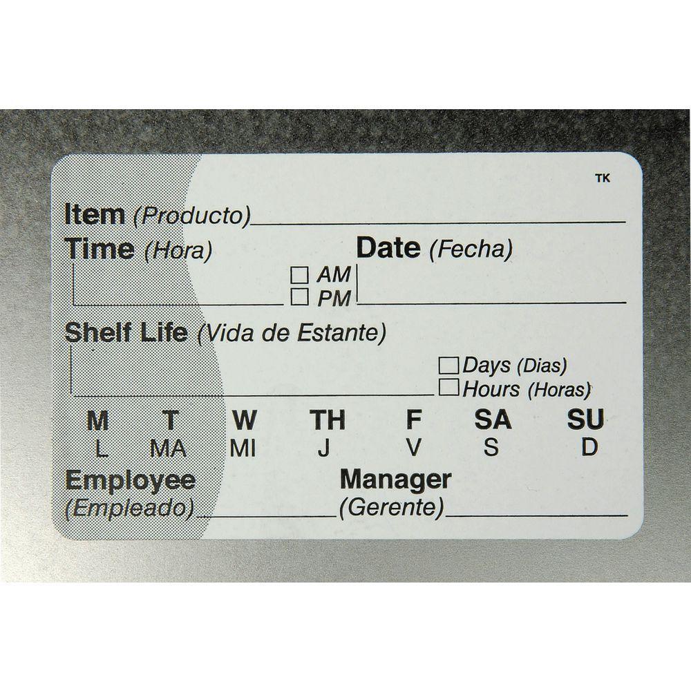 LABEL, TOUGH MARK, SHELF LIFE, 2X3, 500/RL