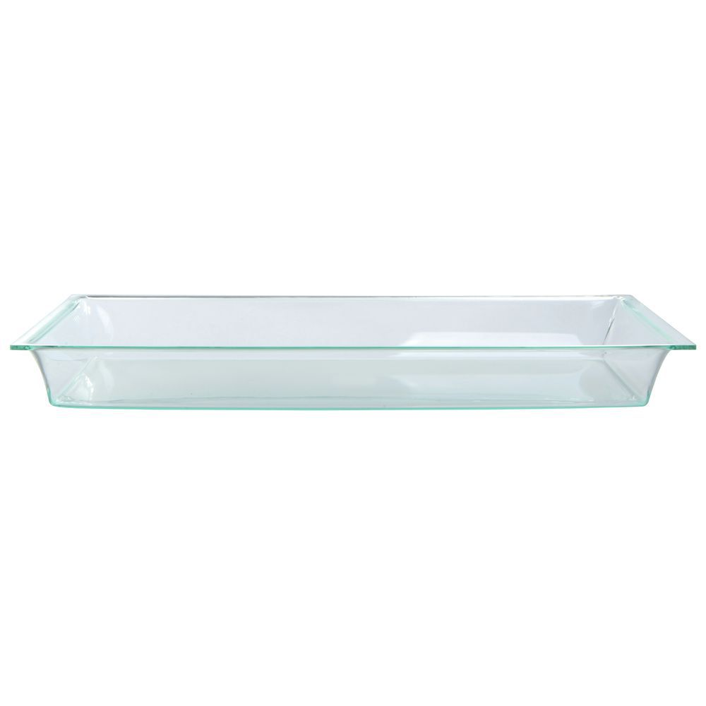 "Delfin Green Glass Acrylic Bowl 23""L  x 11 1/2""W  x 2 1/2""H"