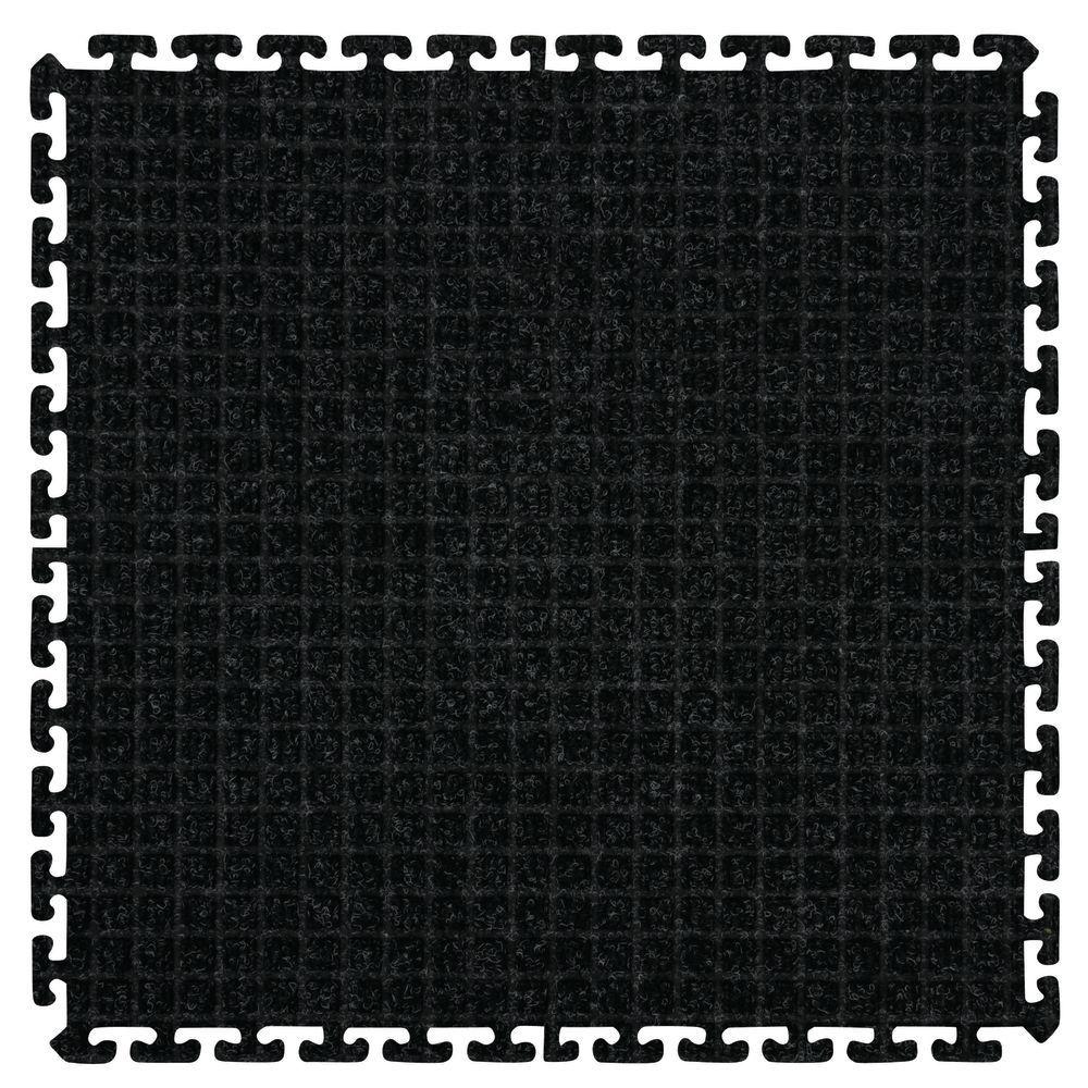 M A Charcoal Carpet Waterhog Classic Tile Entrance