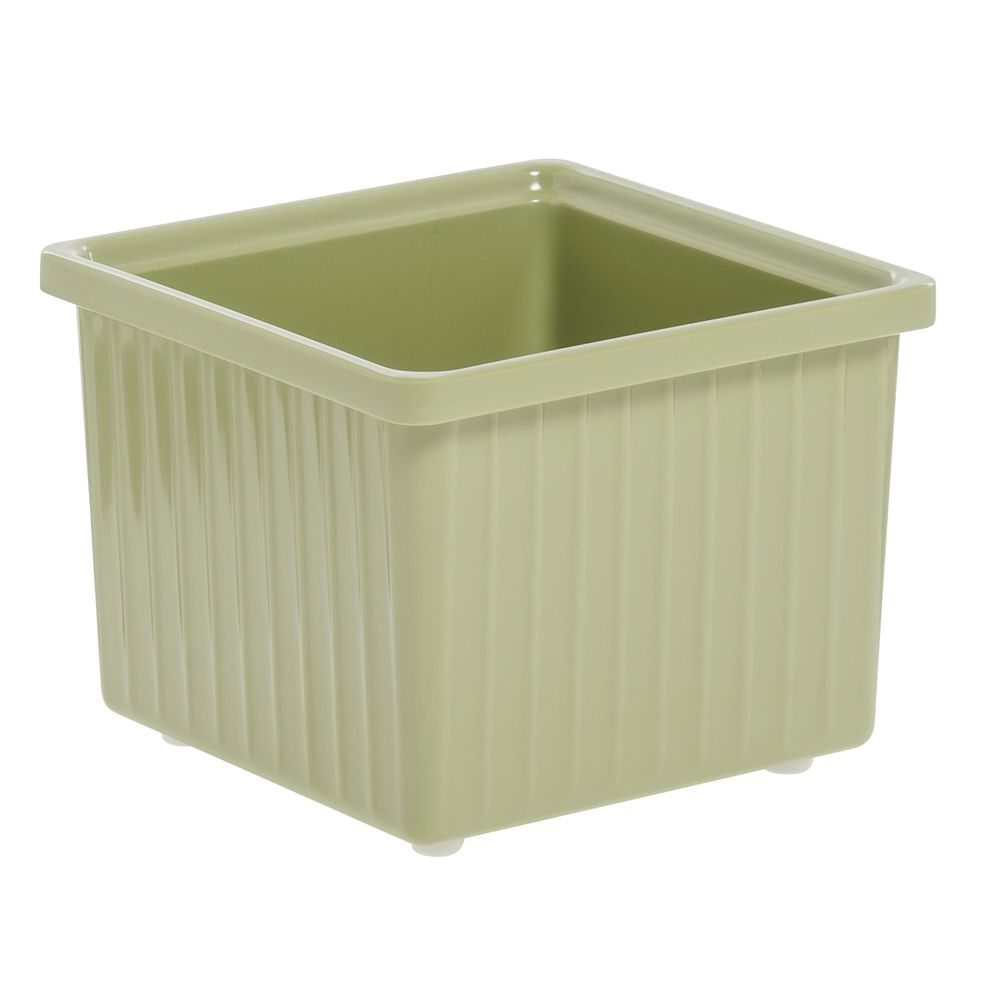 "Expressly Hubert® Melamine Bowl Willow Green 6"" Square x 4 3/4""H 
