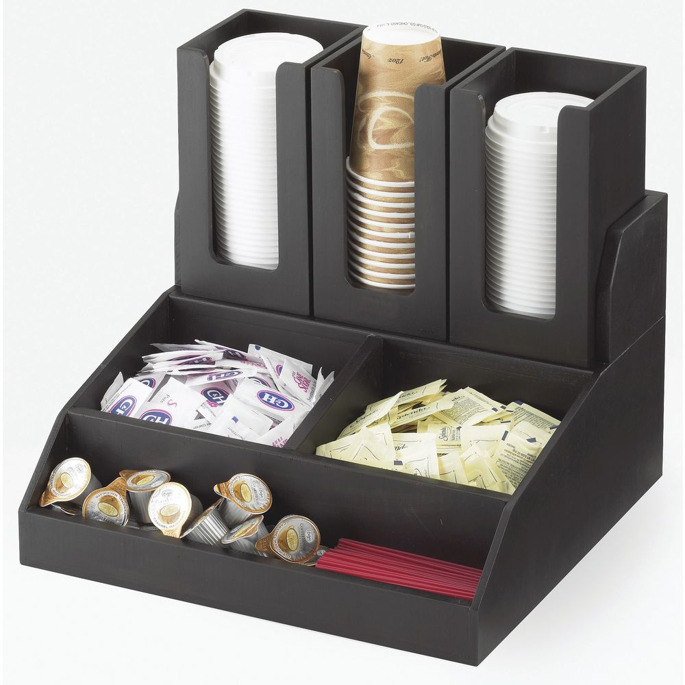 CONDIMENT STATION, MULTI-BIN, BLACK