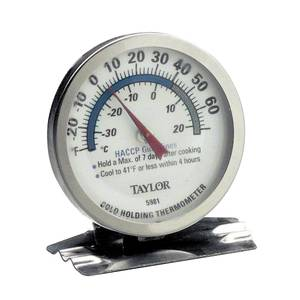 COLD HOLDING THERMOMETER, -20/60 F