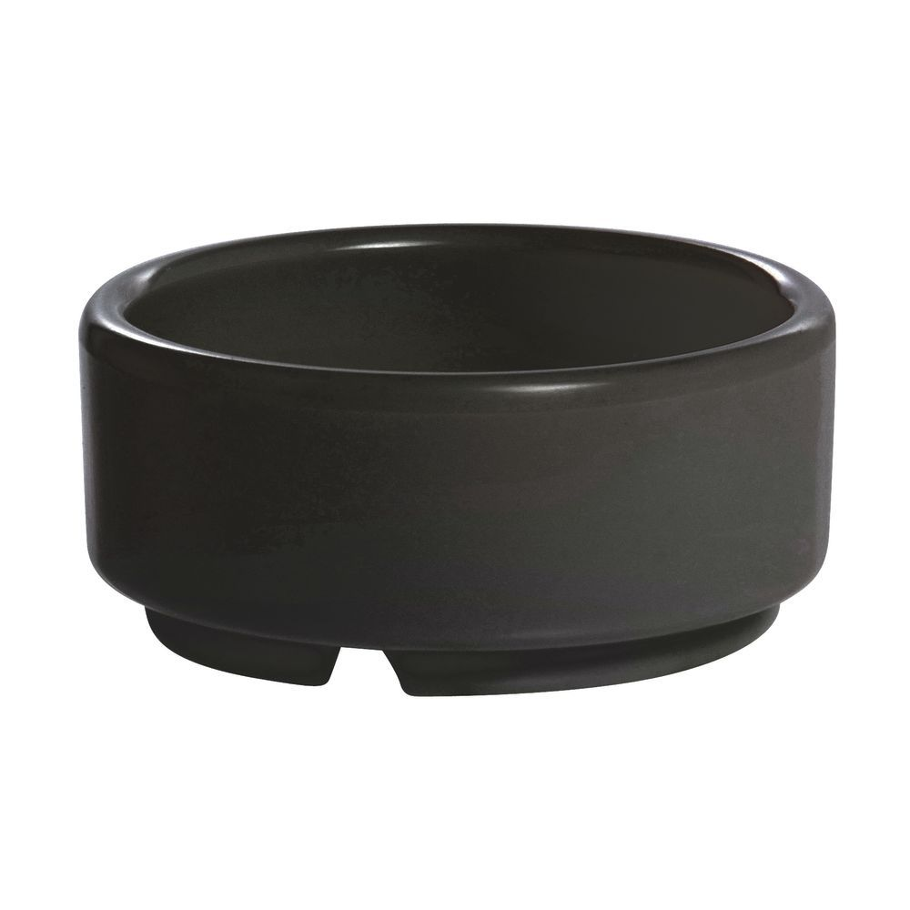 RAMEKIN, STRT SIDE, MLMINE, 2 OZ, BLACK