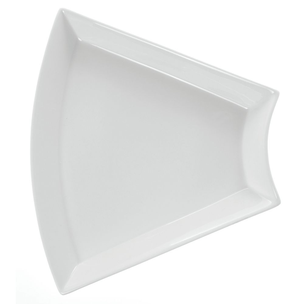 "Stoneleaf + White Porcelain Displayware Trapezoidal White Porcelain Plate holds #39134 11 11/16""L x 4 3/4""W"