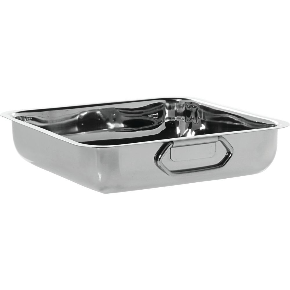 Stainless Steel Pan has Handles for Easy Maneuvering