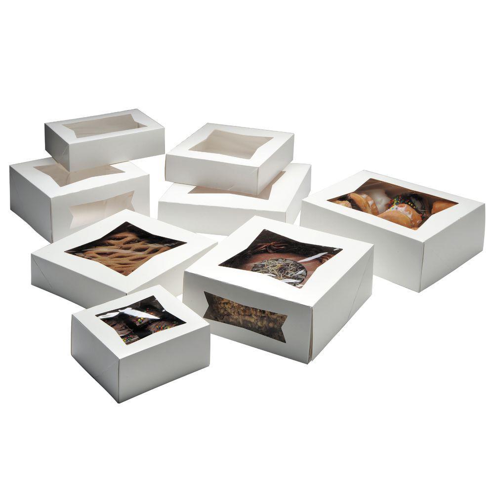 Mini White Bakery Boxes With Window.
