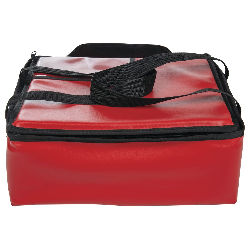 HUBERT Red PVC/PEVA Insulated Meal Delivery Bag