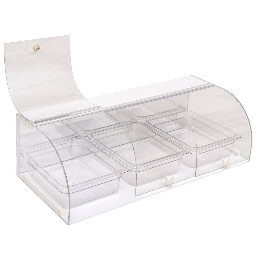 3-Bin Bakery Pastry Display Case with Curved Door|3-Bin Bakery Pastry Display Case with Curved Door