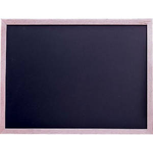 "CHALKBOARD, 24""X36"", BLK W/OAK+LAQ 1SIDED"