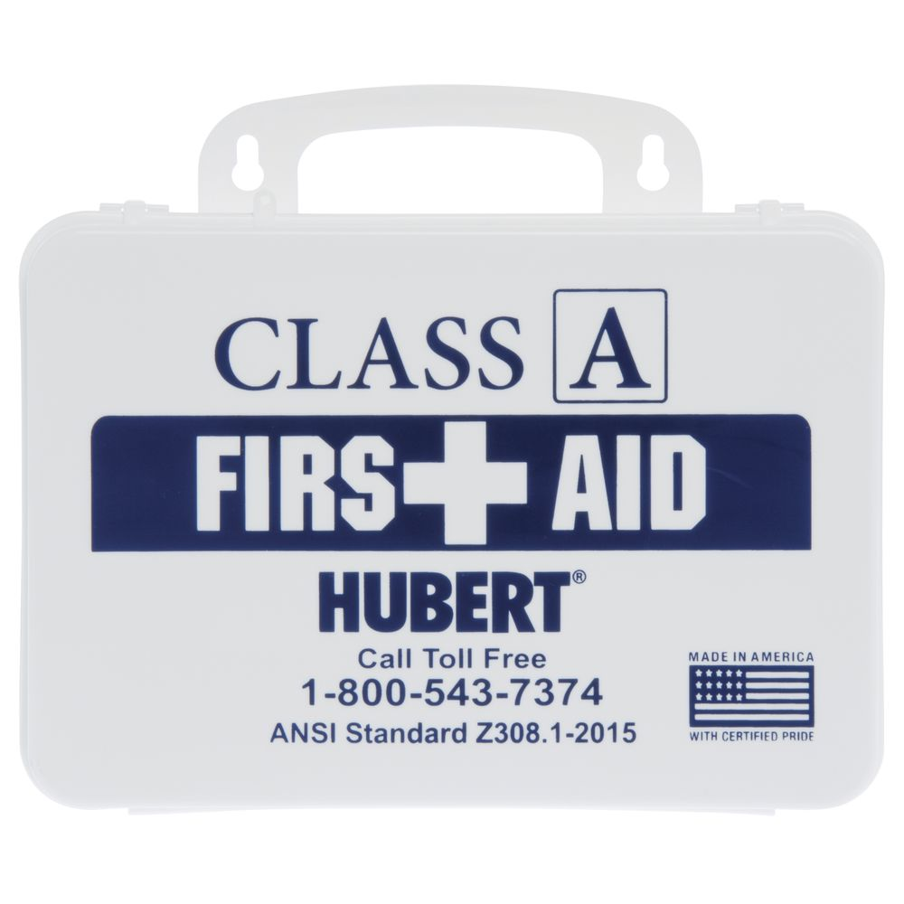 HUBERT® Small Class A First Aid Kit with White Plastic Case - 10