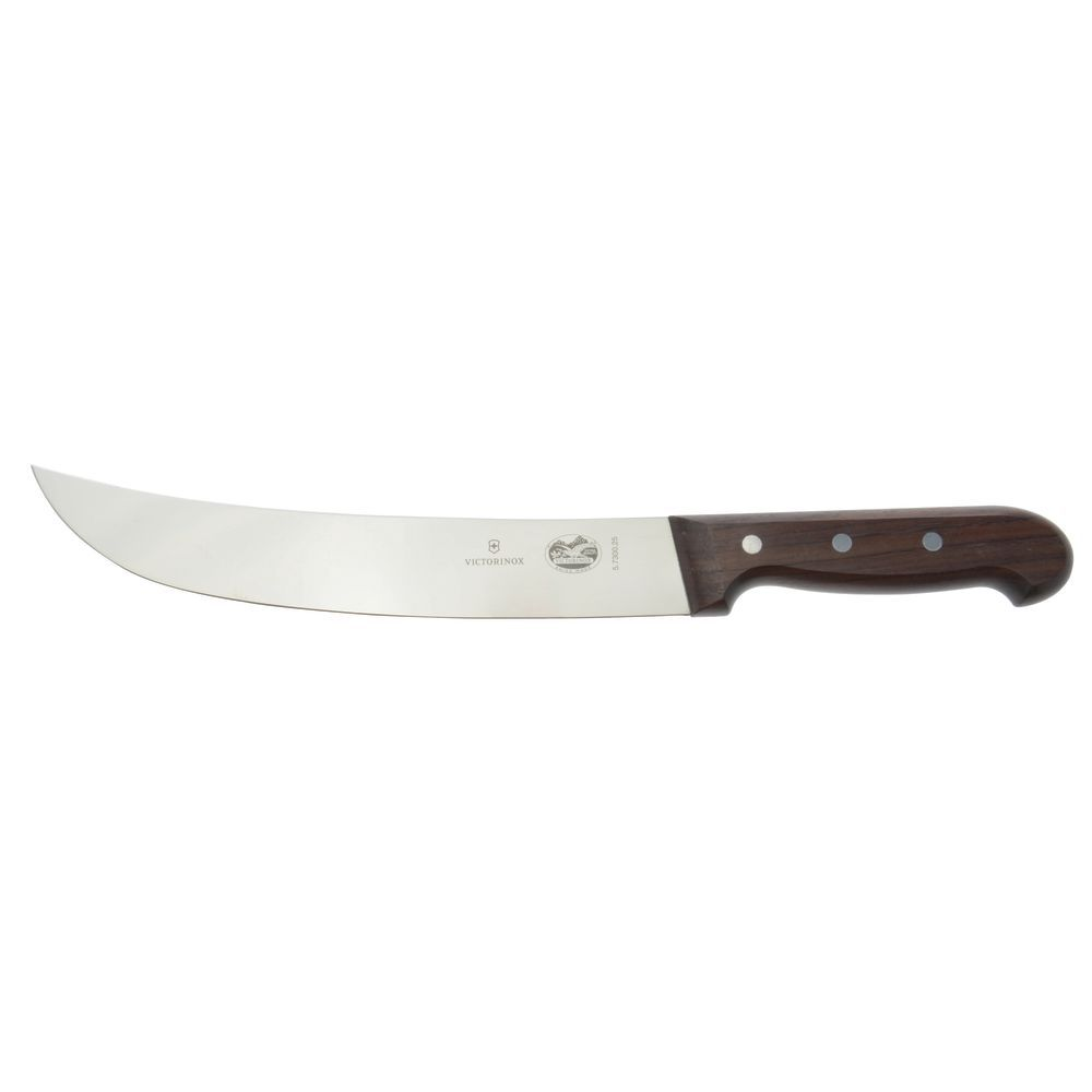 Victorinox Stainless Steel Cimeter Knife with Rosewood Handle - 10\