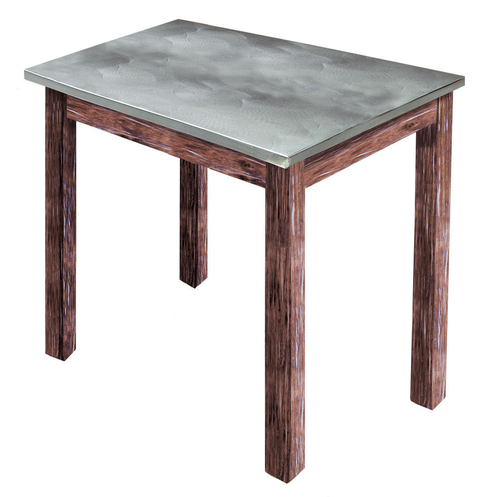 TBLE, GALV.TOP, RUSTIC BROWN, 24LX20WX22-1/