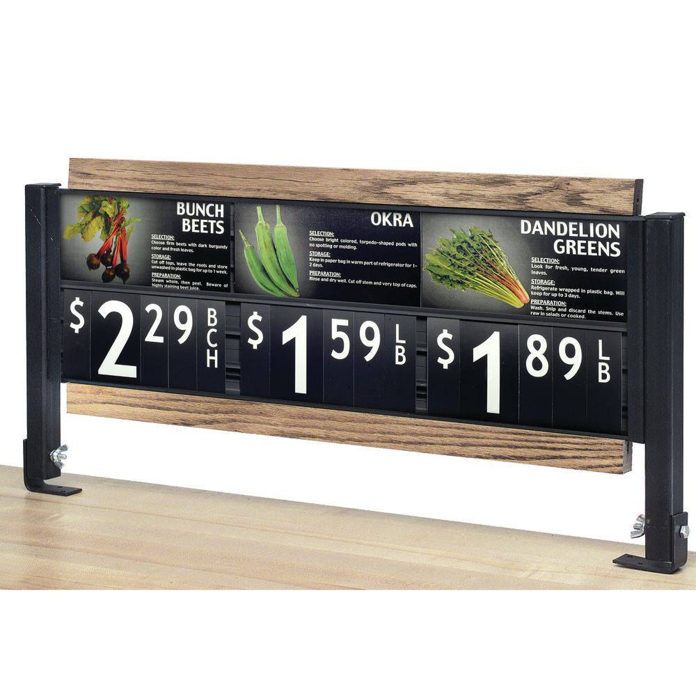 Supermarket Signage allows you to Achieve a Custom Viewing Angle