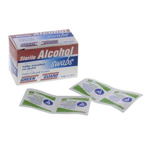 TOWELETTES, ALCOHOL, 50 COUNT