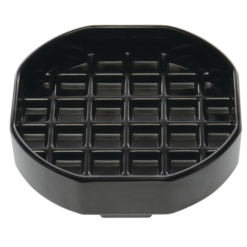 "HUBERT® Melamine Drip Tray 6"" x 6"" Black"