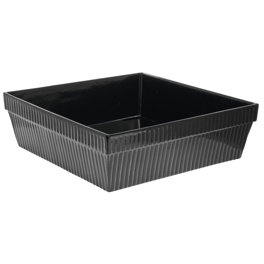 Tablecraft® Large Square Coated Aluminum Bowl Fluted 24 Qt