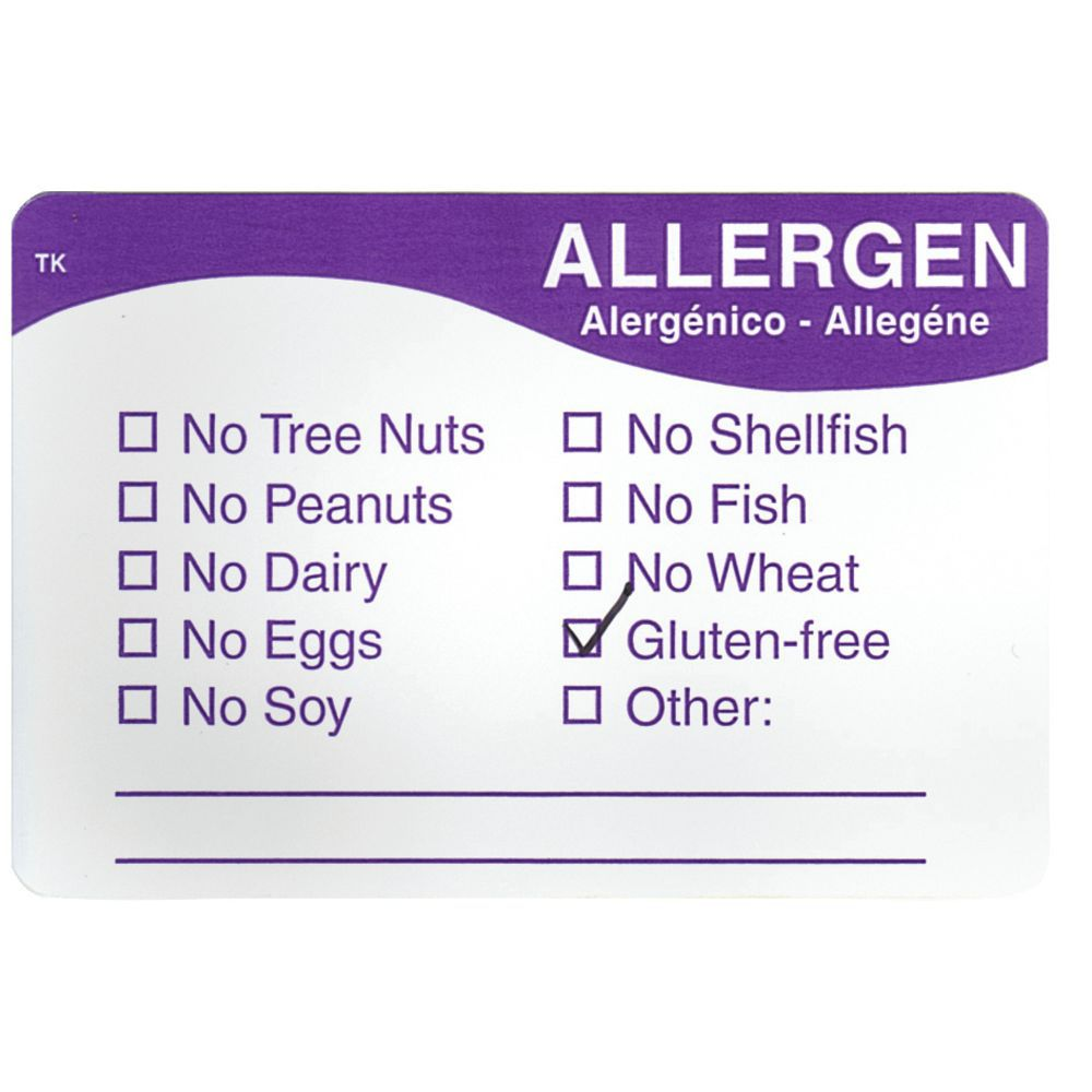 "LABEL, ALLERGEN, REPOSITIONABLE, 2""X3"", 500"
