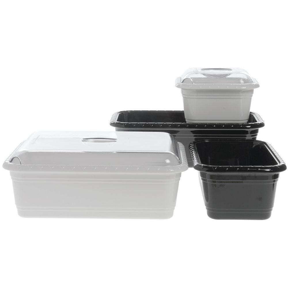 "Dalebrook Gastronorm Plastic Full Size Pan in Black  20 9/10""L x 12 4/5"" w x 3 9/10H"
