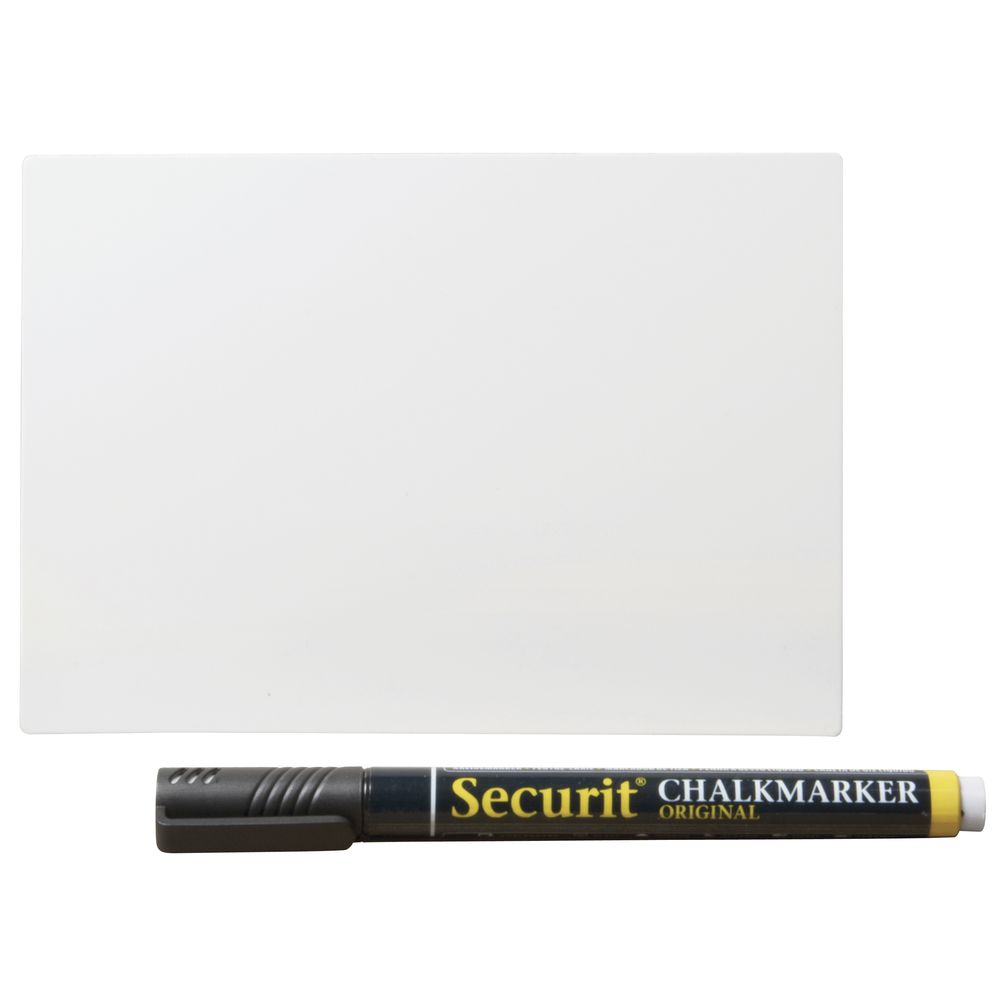 "CO TAGS, CHALKBORD, SECURIT, 6""X4.25"", ST/20"