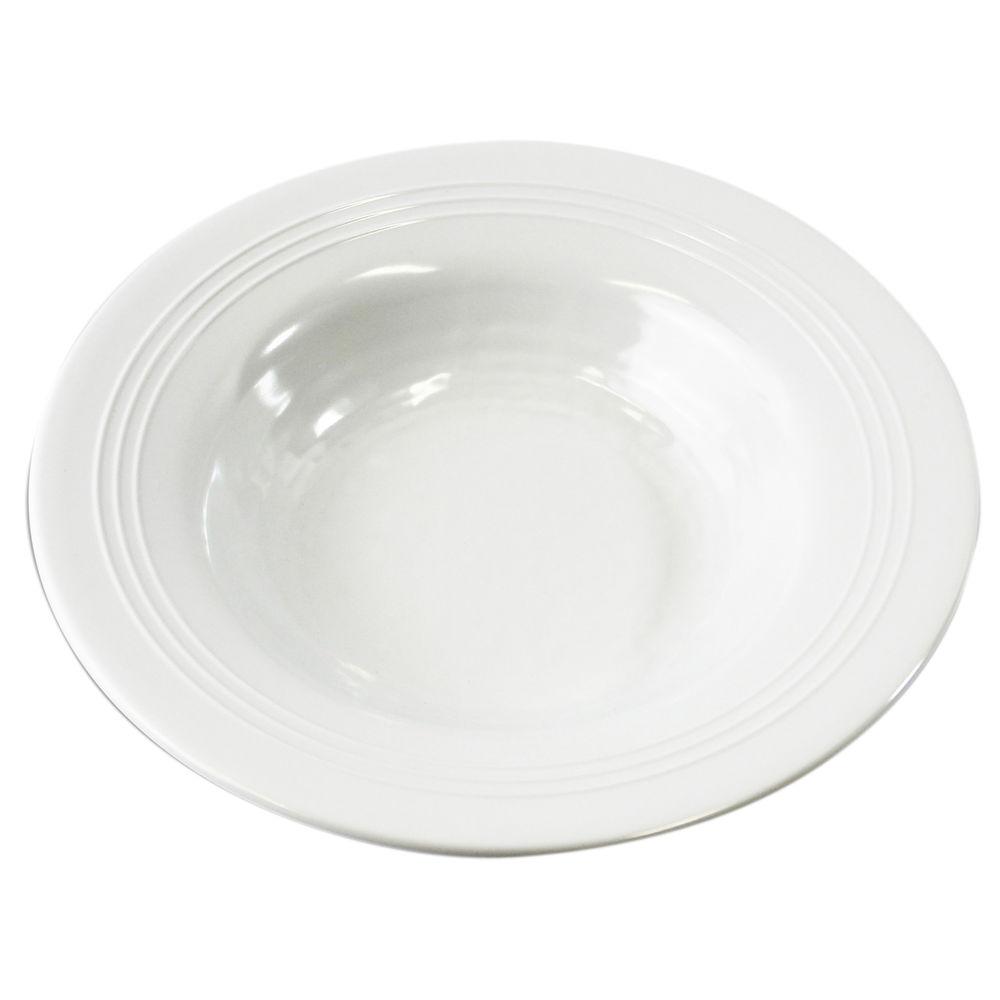 """Elite Durango White Pebbled Melamine Bowl 10 Oz 8"""" x 1 1/3"""""""