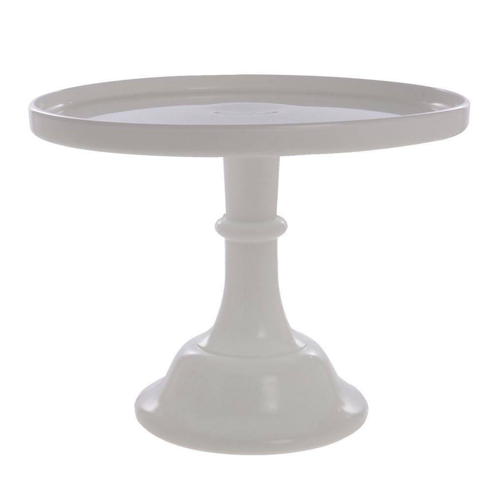 CAKE STAND, GLASS, 10DIAX8H, MILK