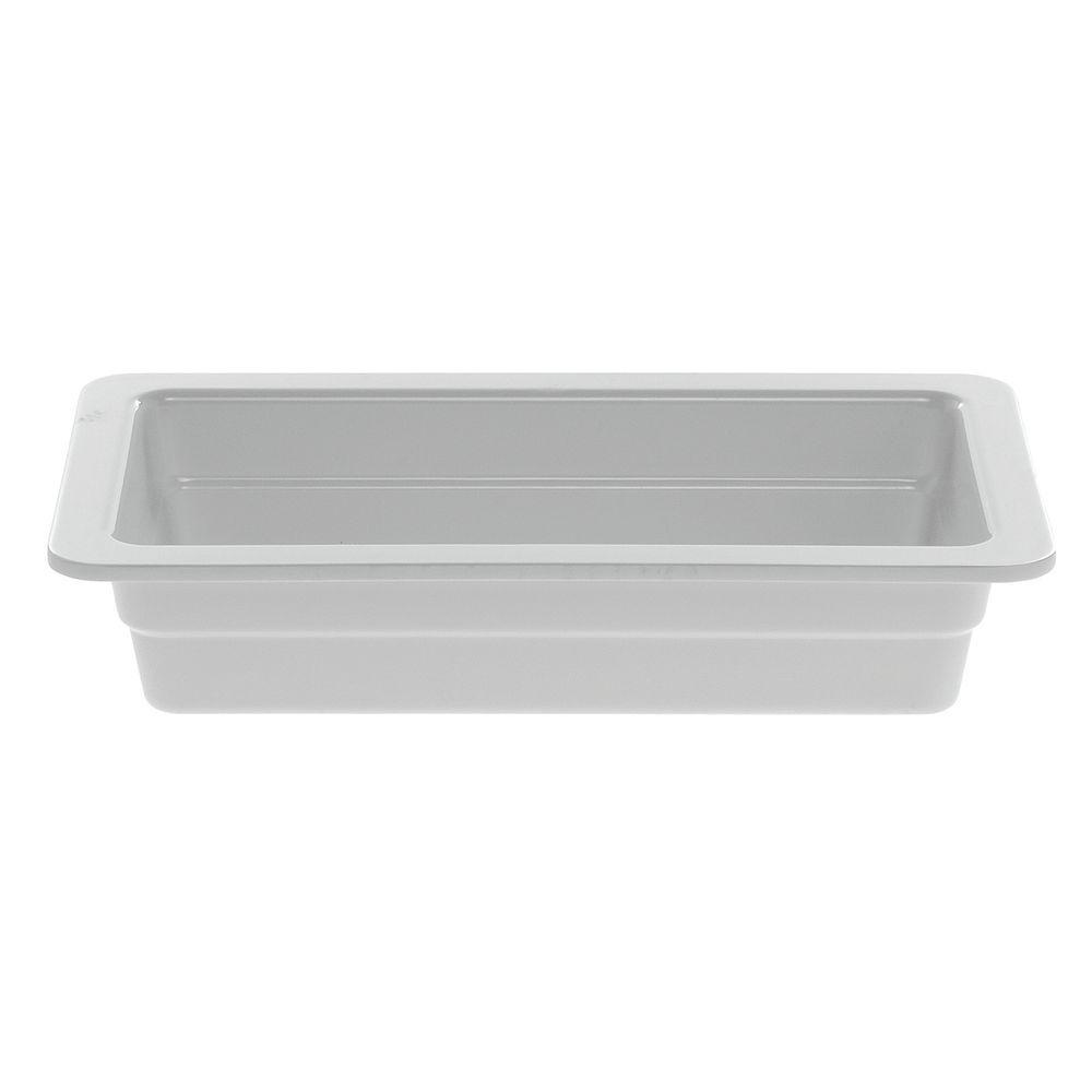 "PAN, 1/3 SZ.2.5""D, WHITE, MELAMINE"