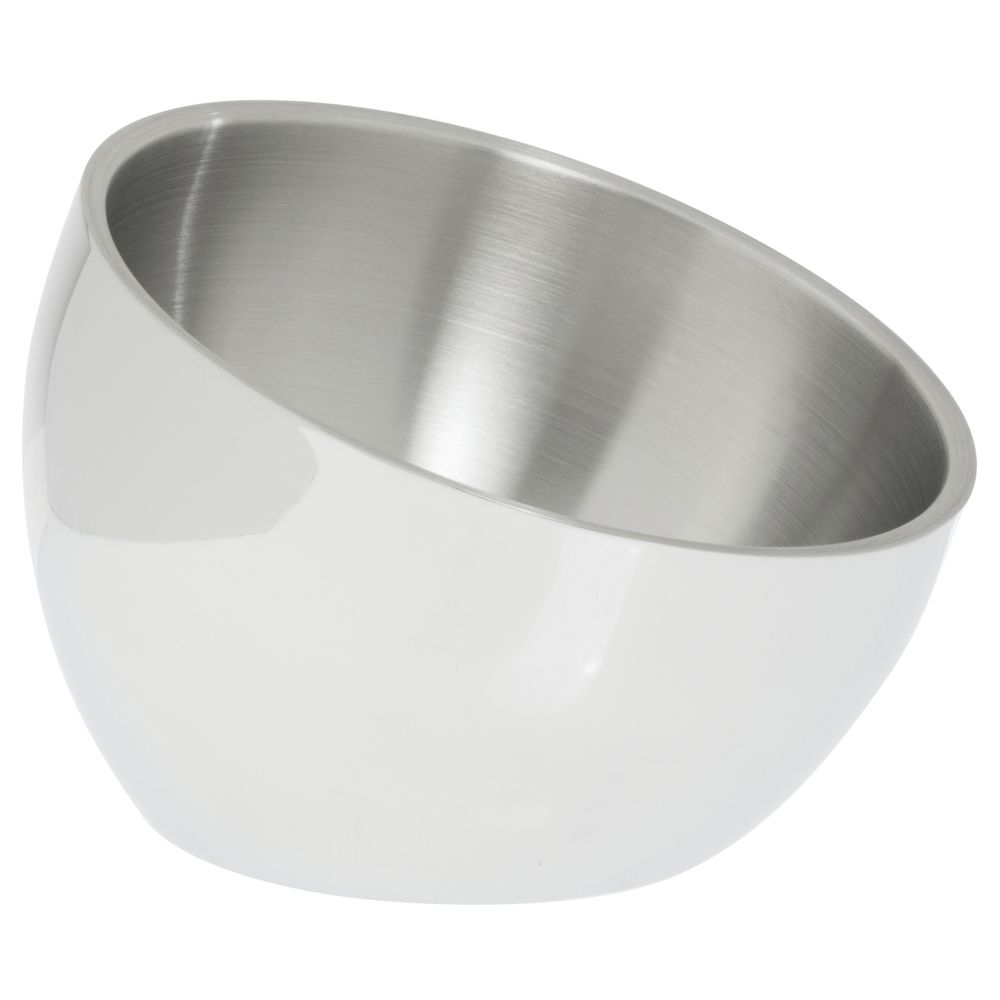 BOWL, ANGLED, DBLE WALL, 1 QT, S/S
