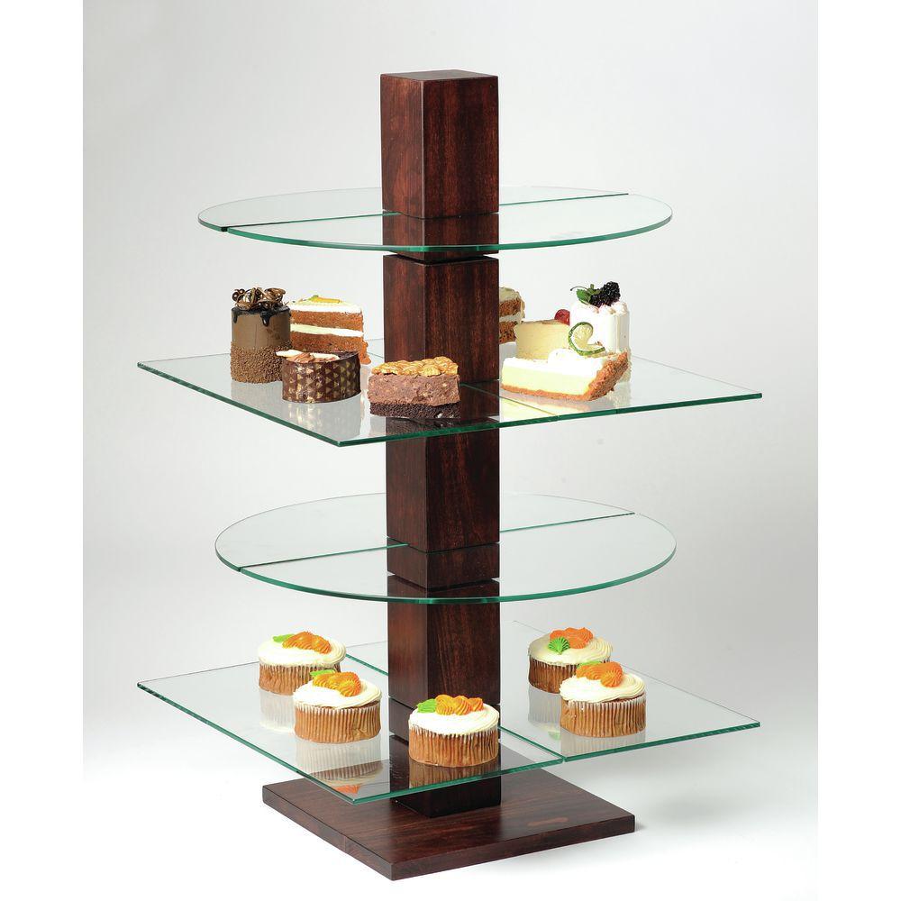 Cal-Mil Westport Collection Bakery Display Rack Mahogany Wood Pillar
