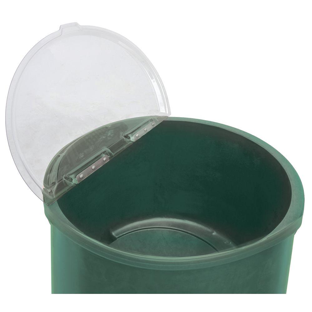 |Round Beverage Cooler with Green Exterior