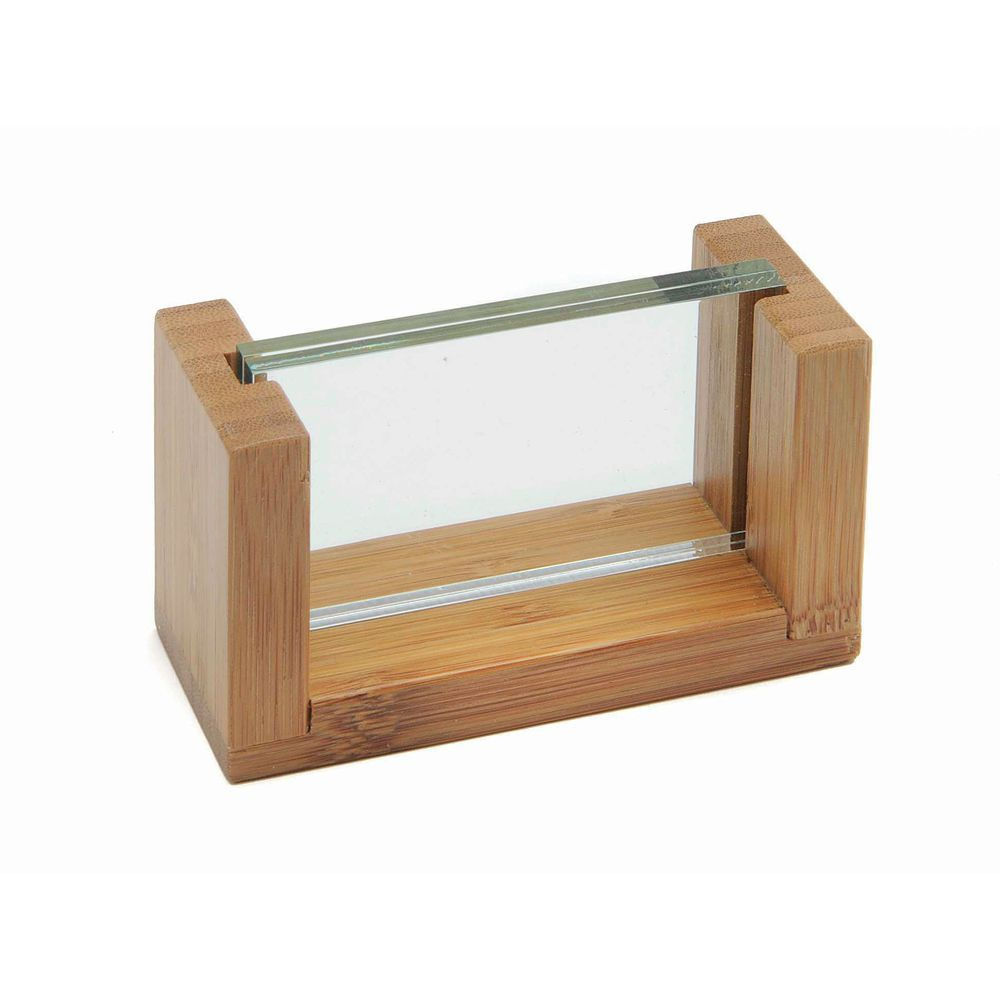 "HOLDER, BAMBOO, ""U""FRAME/GRN EDGE, 2""HX3.5L"