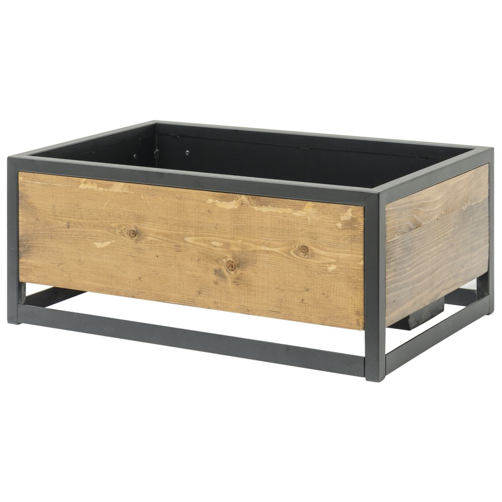 CHAFER, FULL SIZE W/COVER, RECLAIMED WOOD