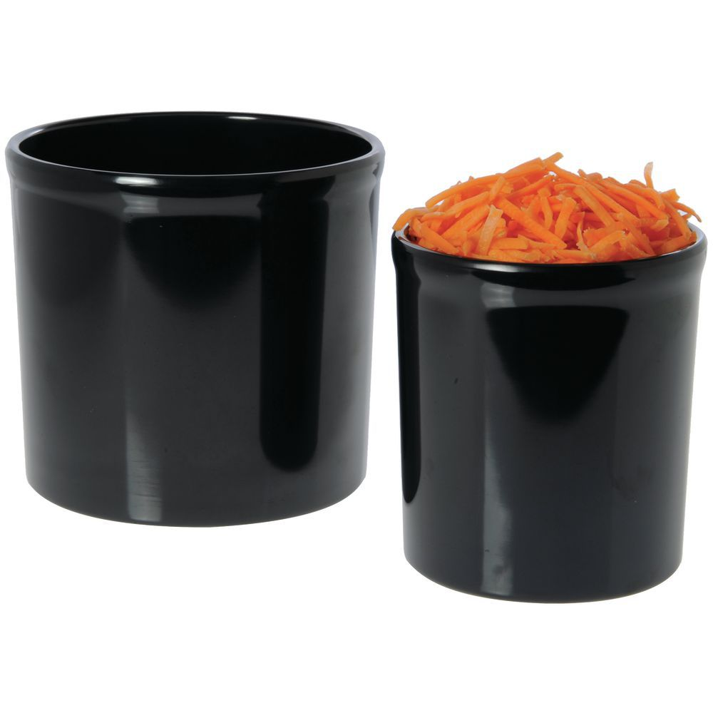 "Ceramic-Look 32 oz Food Crocks in Black Melamine 5""D x 5""H"
