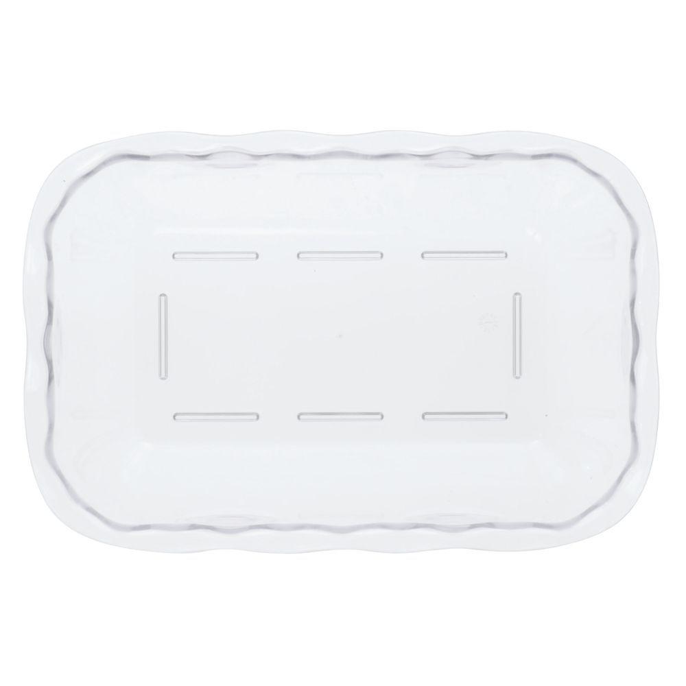 """Cambro Scalloped Deli Crock with 5lb Capacity in Clear SAN Plastic 10 1/4""""L x 7""""W x 3""""H"""