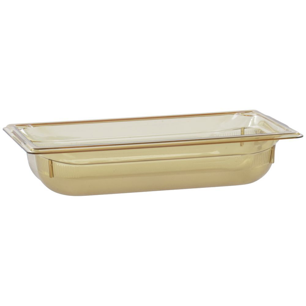 "Vollrath Super Pan Plastic High Temperature Pan Amber 1/3 Size 2 1/2""D"