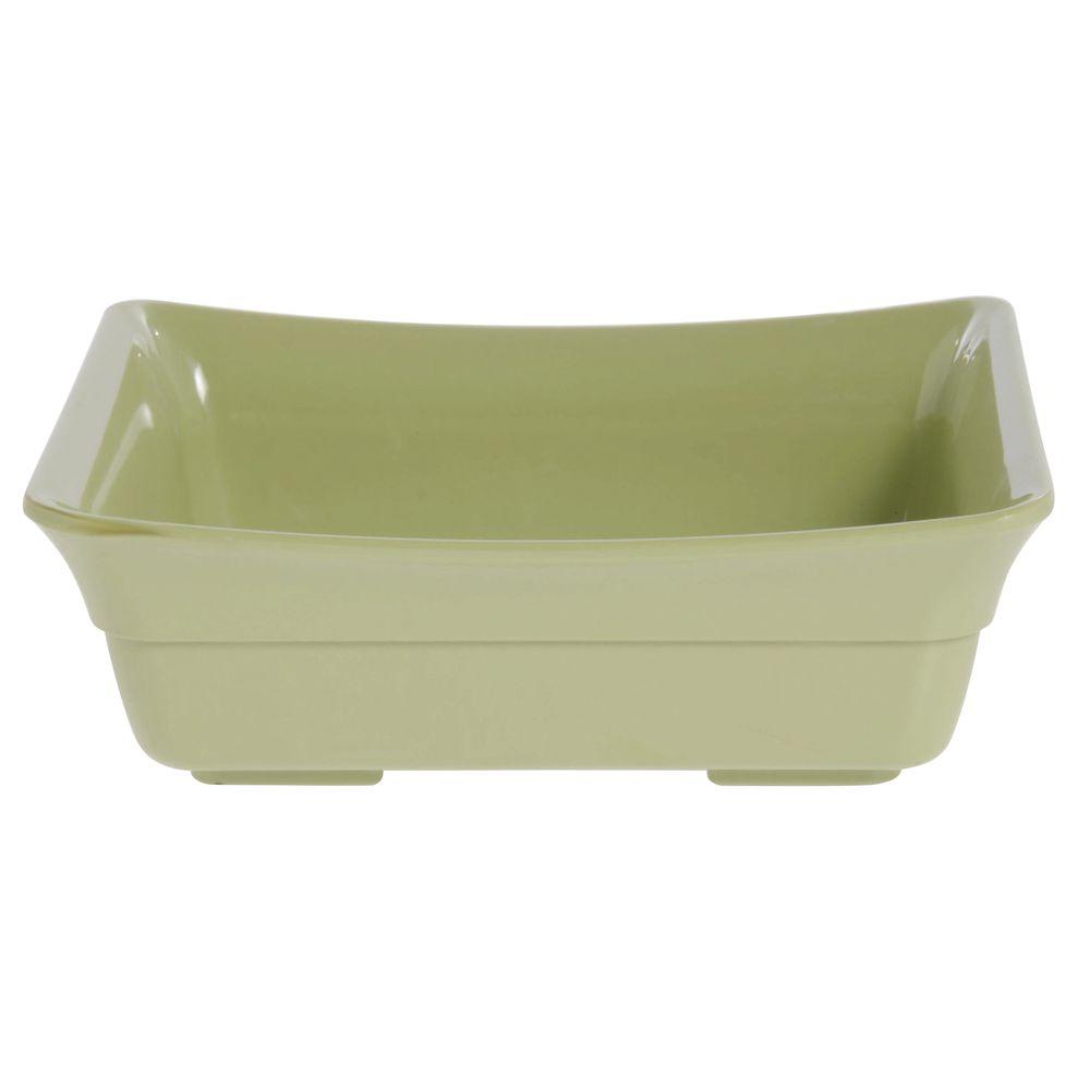 Expressly Hubert® Serving Pan Willow Green Melamine Half Size