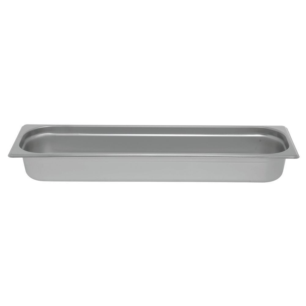 "Hubert Metal Steam Pan 1/2 Size Long 2 1/2""D"