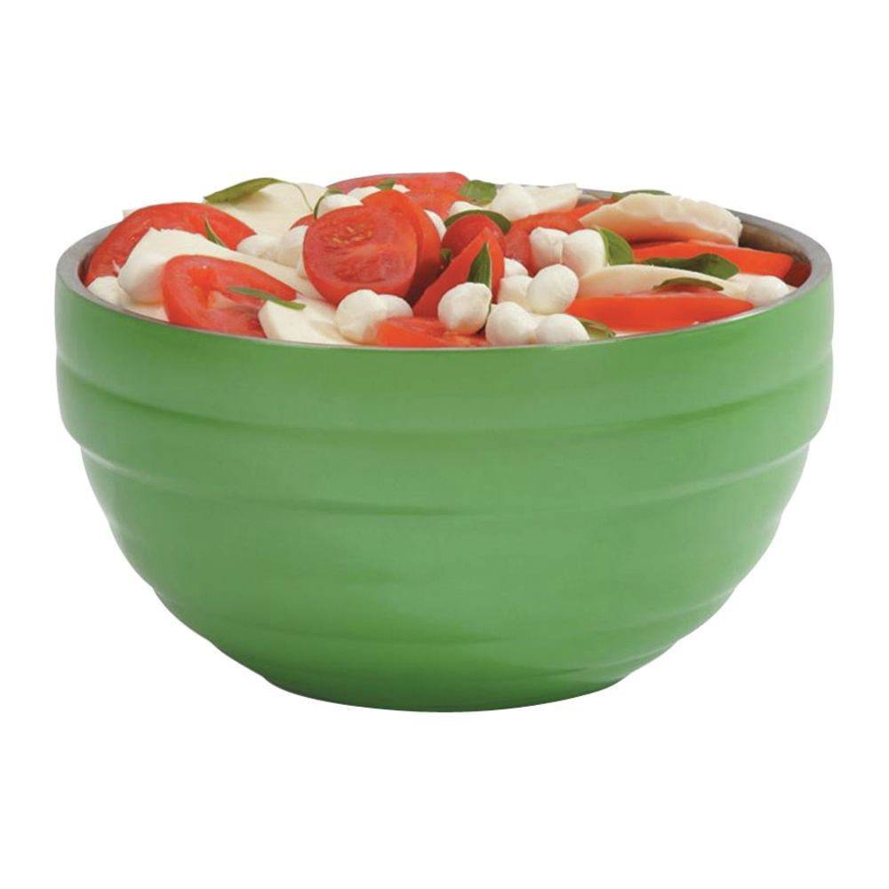 """Vollrath Double Wall Serving Bowls 9 1/2""""Dia x 5""""H Painted Stainless Steel Green Apple Vollrath Double Wall Serving Bowls 9 1/2""""Dia x 5""""H Painted Stainless Steel Green Apple"""