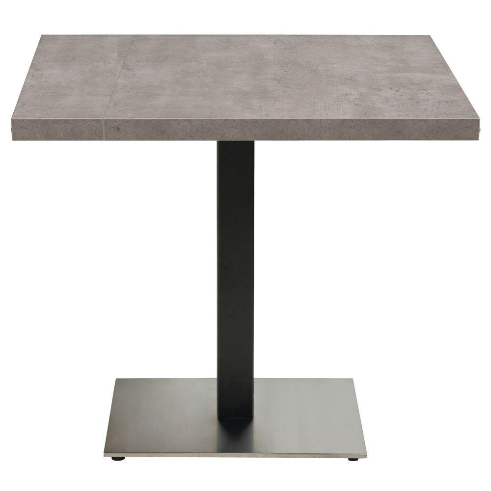 Genial BASE, TABLE, PEDESTAL, BLACK+S/S