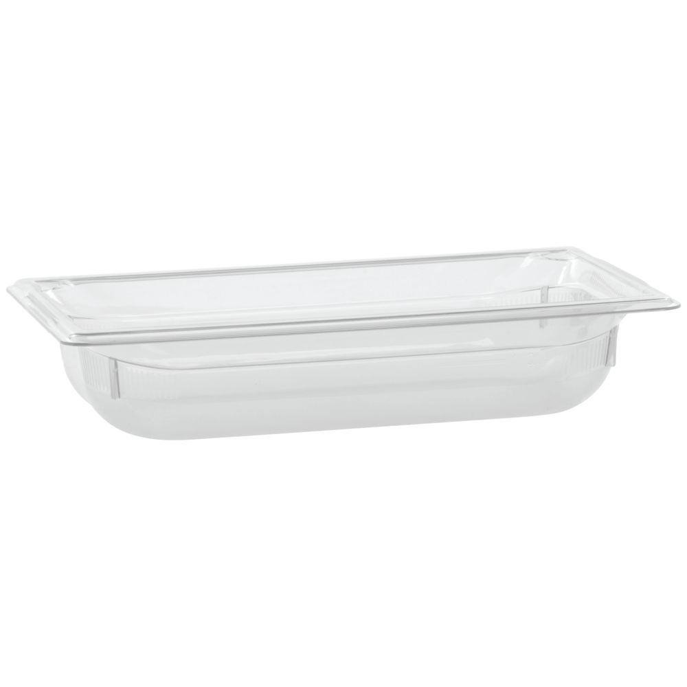 "Vollrath Super Pan Plastic Steam Table Pan Low Temp Clear 1/3 Size 2 1/2""D"