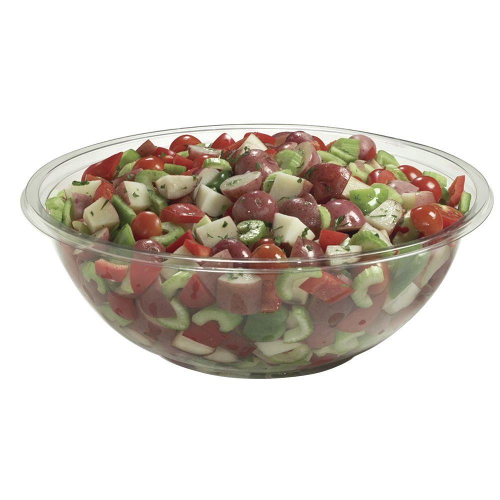 """Classic Clear Plastic Catering Bowl 320 oz/20 lb 16""""Dia x 5 1/2""""D"""